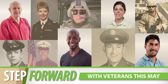 Header Image: Step Forward with Veterans this May