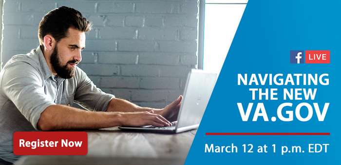 Navigating the new VA.gov. Register Now